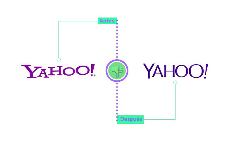 Ejemplo rebranding yahoo